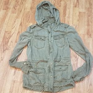 Max Jean's Military Jacket Hooded Green XS